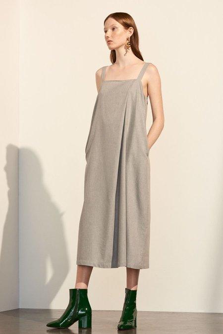Kowtow Shadow Dress in Grey Melange
