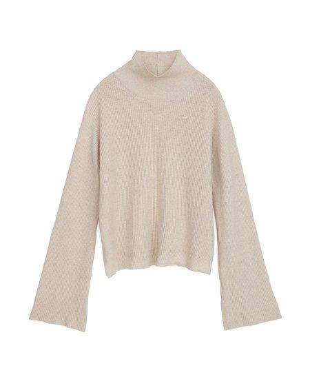 Nanushka GIA Mock neck knit sweater - Creme