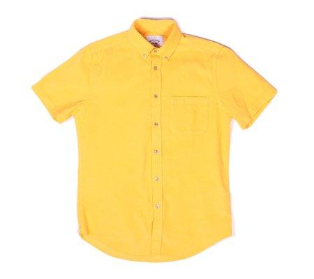 Portuguese Flannel Lobo Yellow Corduroy Short-Sleeve Shirt