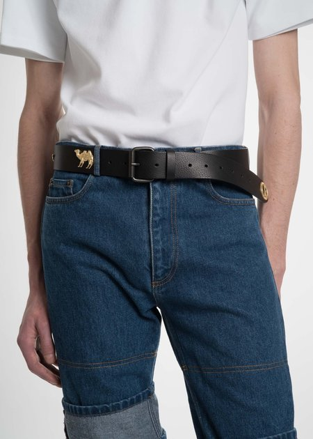 Y/project Black and Gold Dore Belt