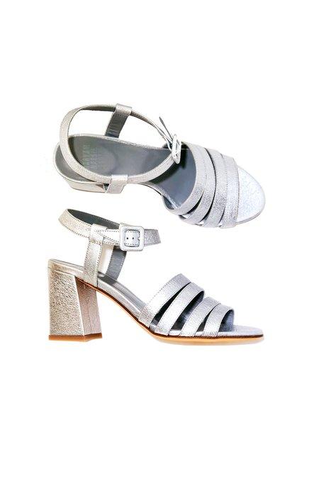 Maryam Nassir Zadeh Palma Crinkle Calf High Sandal - Silver