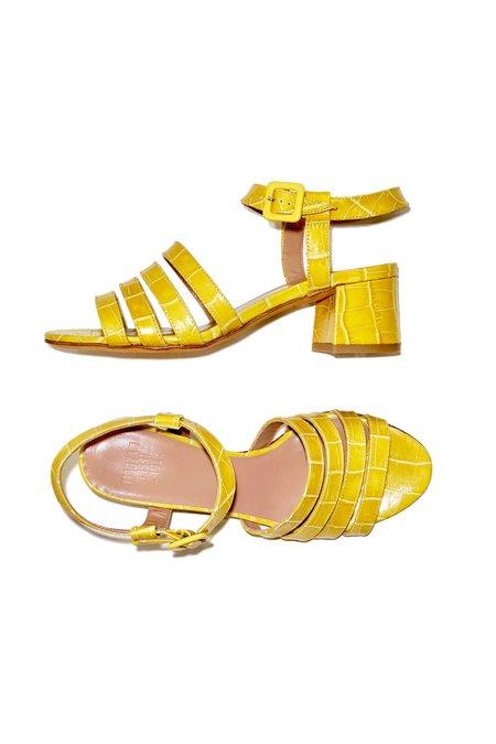 Maryam Nassir Zadeh Palma Low Sandal - Amber Faux Croc