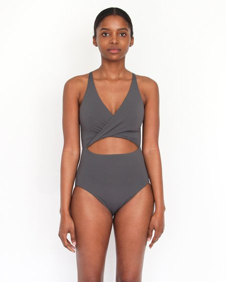 Esby Swim Maria Cut Out One Piece - Slate