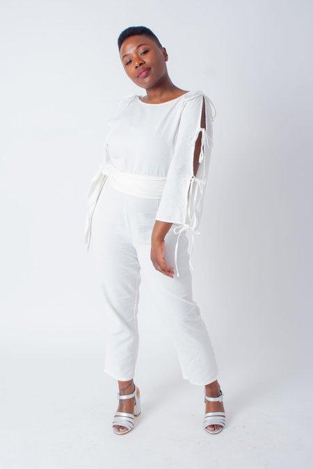 Samantha Pleet Harmonic Jumpsuit - White