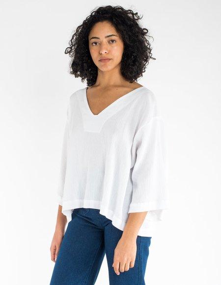 Sunja Link Bell Sleeve Top - White