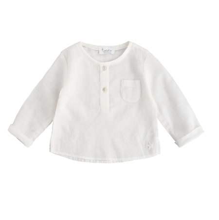 Kids Tocoto Vintage White Linen Long Sleeve