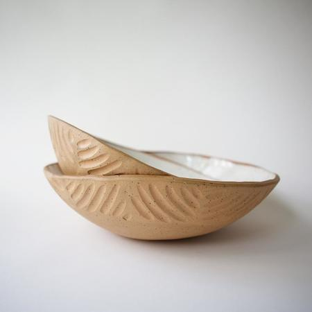 Juno Pottery Carved Serving Bowl