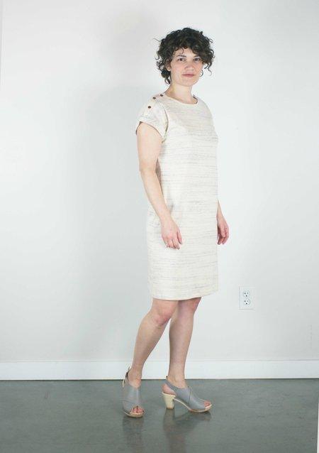 Atelier b. Jersey Straight Cut Dress in Marl Cream