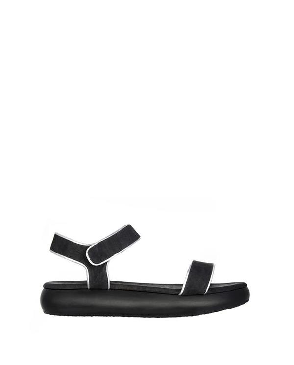 Sydney Brown Flatform Sandal Charcoal