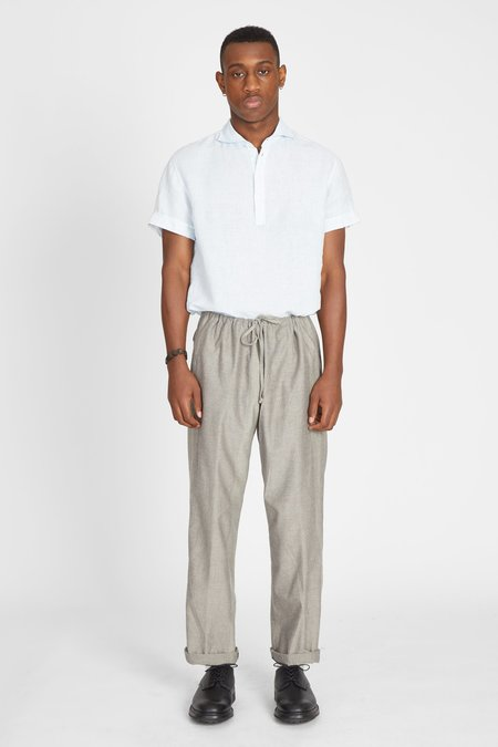 TS(S ) Heather Rayon Cotton Drawstring Pants - Khaki Gray