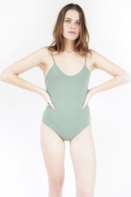 Esby Julia Tank One Piece Swimsuit in Seaweed