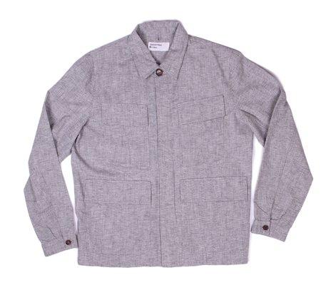 Universal Works MW Fatigue Overshirt - Grey Pale Denim
