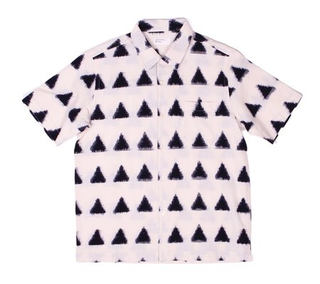 Universal Works Road Shirt - Ecru Ikat Arrow