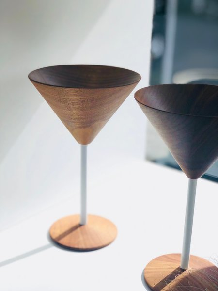 Wood Cocktail Glass