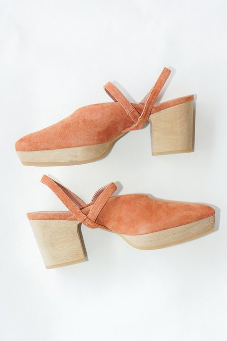 Rachel Comey Suede Level Clogs in Whiskey