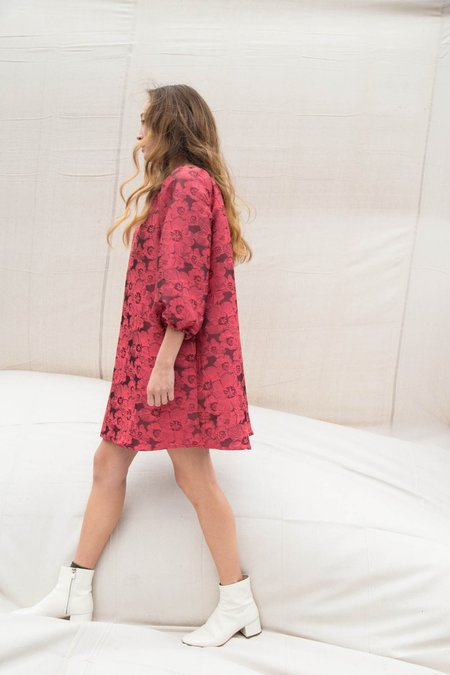 Nikki Chasin BOCCE TENT DRESS - CERISE