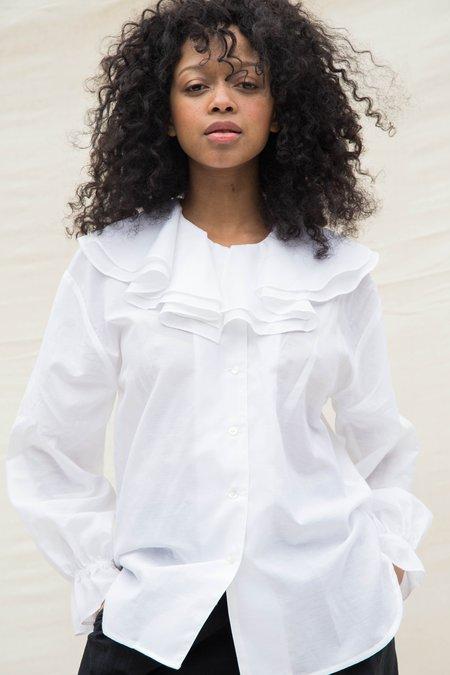 Nikki Chasin CARMELA BLOUSE - WHITE
