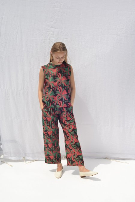 Nikki Chasin PATCH ELASTIC WAIST PANT - WATERMELON