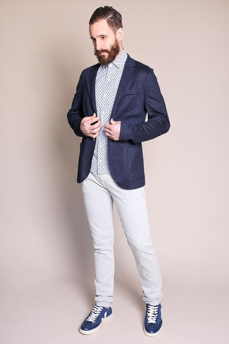 Harris Wharf London 2 Button Blazer in Denim Blue