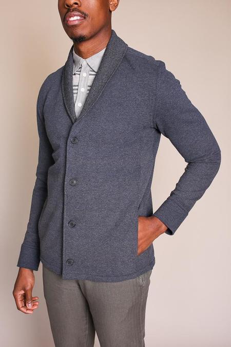 Billy Reid Elliot Shawl Jacket in Charcoal