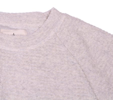 La Paz Cunha Sweat - Light Grey Waffle
