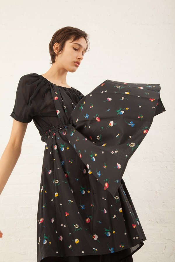 Caron Callahan June Dress in Meadow Floral Dress Black