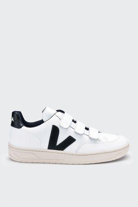 Unisex VEJA V12 Velcro Leather - extra white/black