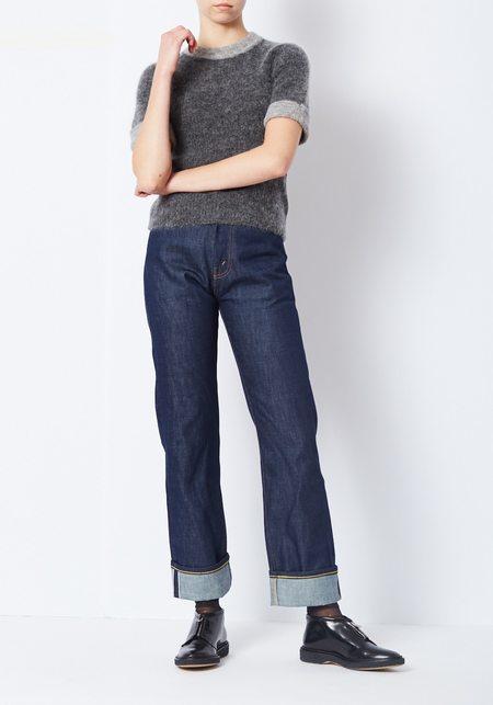 Ganni Gray Short Sleeve Evangelista Sweater
