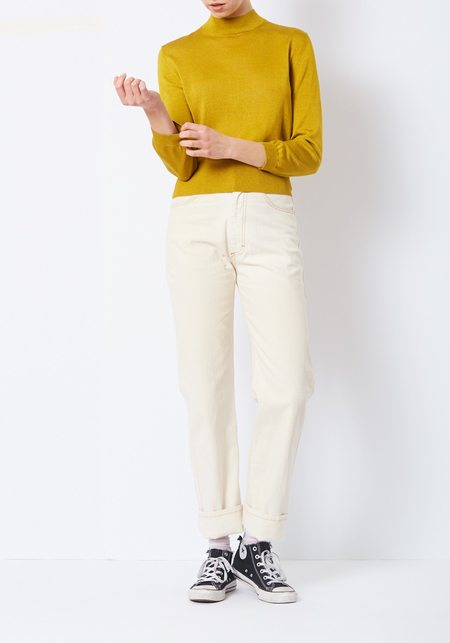 Tibi Mustard Crispy Viscose Sweater Pullover