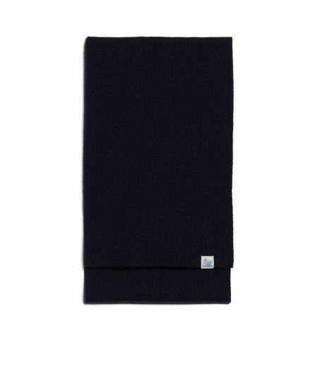Merz b. Schwanen M92 merino knitted scarf black