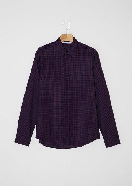 Solstice Shirt square Bordeaux / Red grid