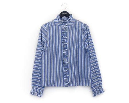 LOA Ruffle Button-Up Blouse