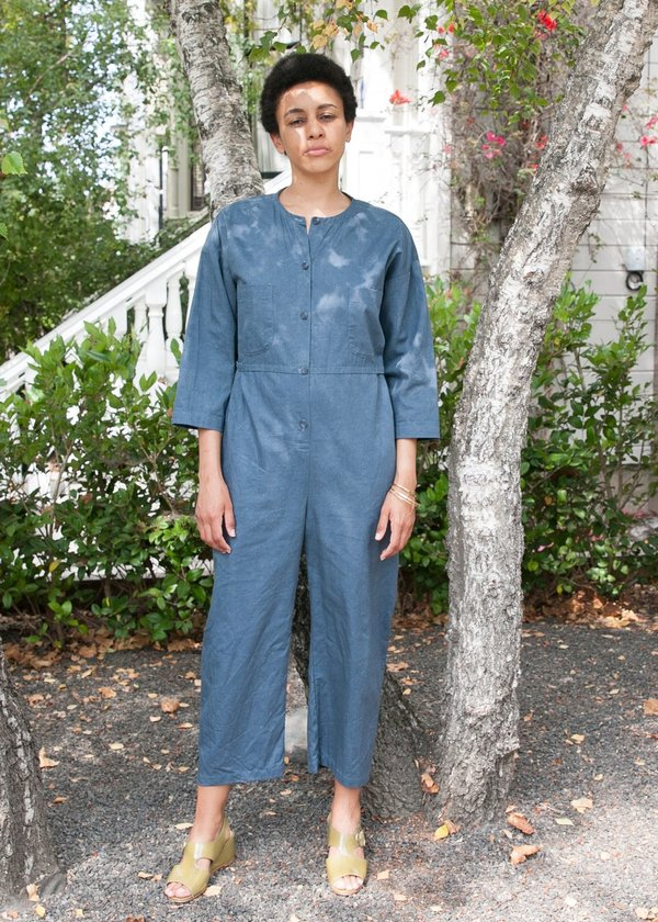 Gravel & Gold Nowe Jumpsuit - Blue Slate