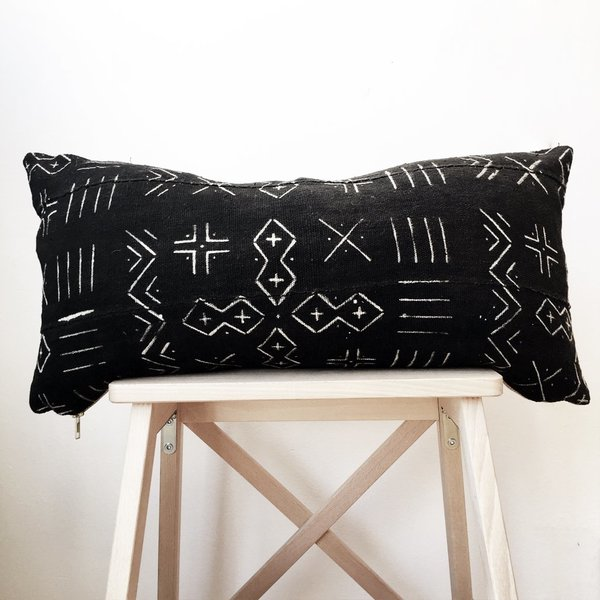 Valiente Goods Lumbar Mud Cloth Pillow No.01