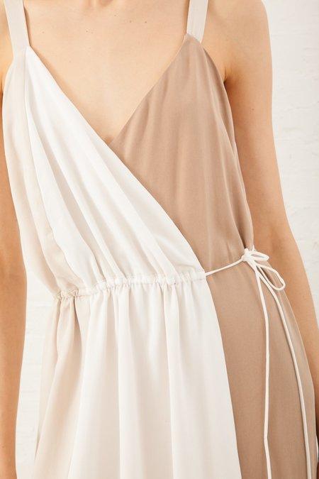Shaina Mote Viviane Dress in Salt/Putty/Camel