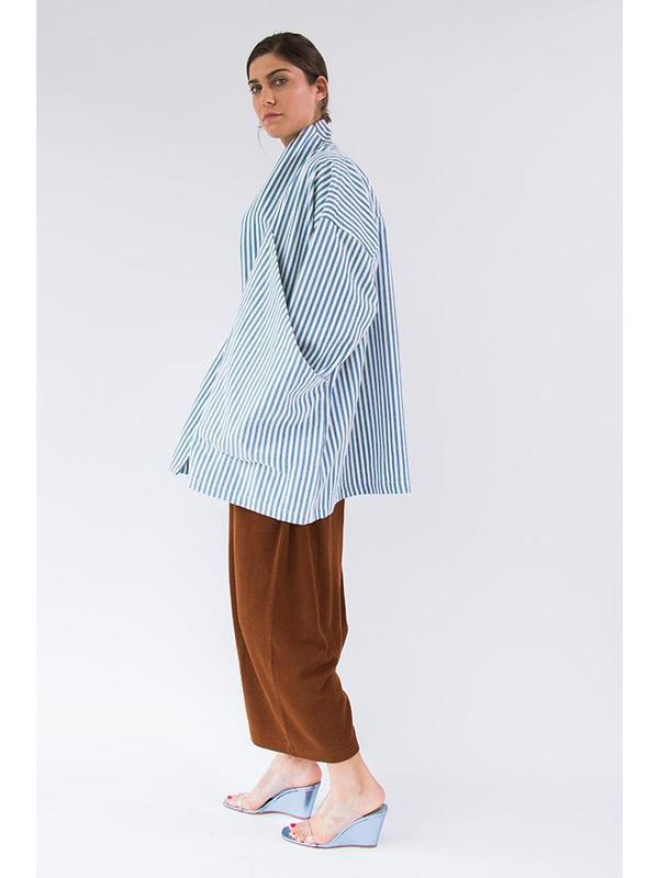 Unisex 69 Pocket Bag Blazer - Blue/White