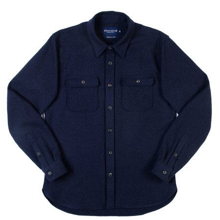 Freenote Cloth Gilroy Wool Cotton Shirt - Navy