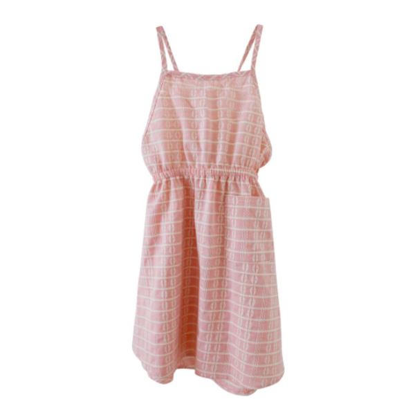 Kids Nico Nico Apron Dress - Pink