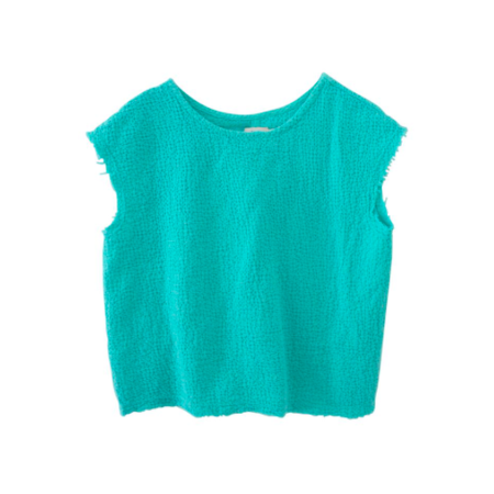 Kids Nico Nico Indiana Box Top - Seafoam