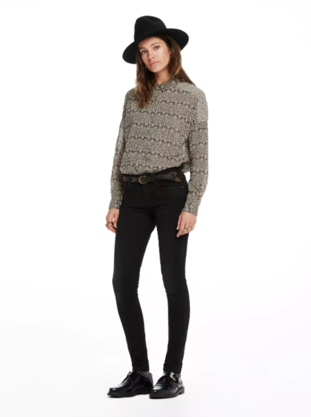 Maison Scotch La Parisienne Jean in Coated Black