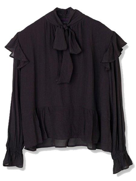 Stella Nova Bow Blouse in Black