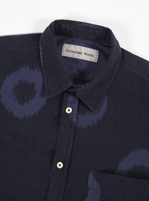 Universal Works Ikat Shirt in Navy