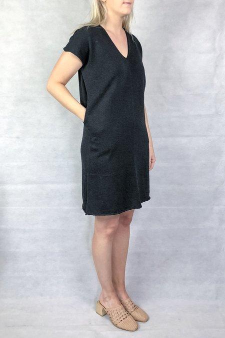 été noir Soft Caftan Dress