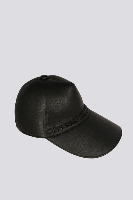 Paxa Leather Cap - Obsidian