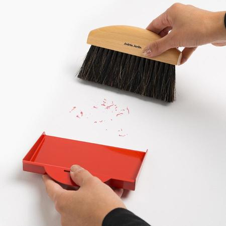 Andree Jardin Mini Brush and Dustpan Set in Red