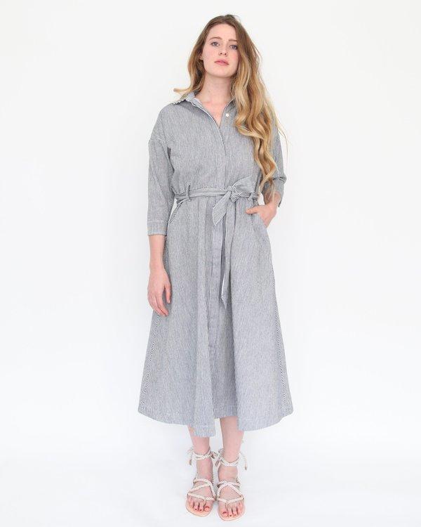 Esby Mabel Shirt Dress - Indigo Stripe