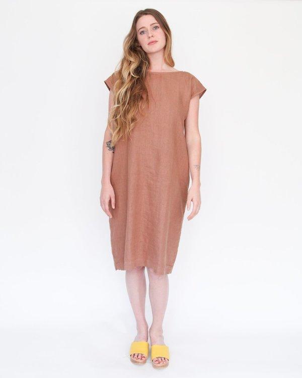 Esby Malia Reversible Shift Dress - pecan