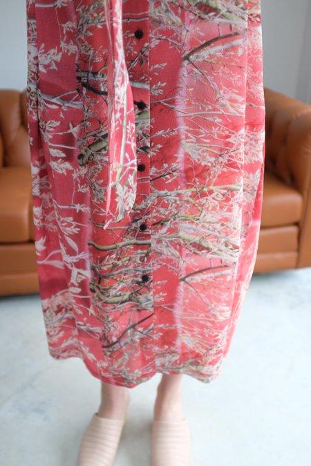 Anntian Silk Button Down Dress Floral A Felsenbirne
