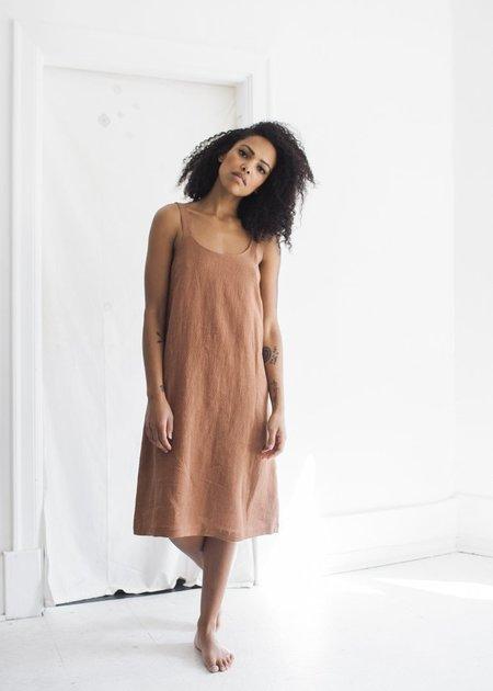 First Rite Dip Dress - Clay