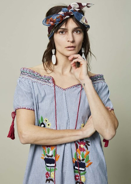 Rose and Rose Bello Embroidered Dress